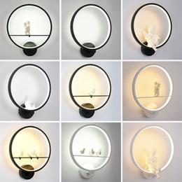 lampade di angelo Sconti Modern Art Angel Nordic Lampada da parete a LED Nordic Creative Soggiorno camera da letto Apparecchi di illuminazione Decorazione della casa applique da parete