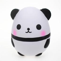 2019 boneca de panda dos desenhos animados PU rebote lento toy panda ovo modelo squishy descompressão brinquedo dos desenhos animados boneca de brinquedo simulação de animais ornamentos boneca de panda dos desenhos animados barato
