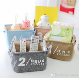 Manteles de algodón fresco coreano cajas de almacenamiento comestibles cajas de almacenamiento papelería cosméticos contenedores de almacenamiento desde fabricantes