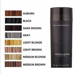 fibras de cabelo da queratina Desconto Fibras de Construção do cabelo 27.5g Fibra De Cabelo Emagrecimento Concealer Instantâneo Queratina Pó de Cabelo Preto Spray Aplicador 120 pcs