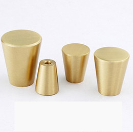 kitchen cabinet door pulls Promo Codes - furniture knob solid brass handles for furniture wardrobe cabinet doors Kitchen Drawer Cabinet Pull Handle wholesale price