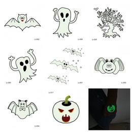 impresión de etiqueta de tatuaje Rebajas Calabaza Fantasma Impresión Decoración Etiqueta engomada del tatuaje Fiesta de Halloween Night Glow Stickers Prop Hombre y mujer Moda Diseño diferente 0 5jmH1