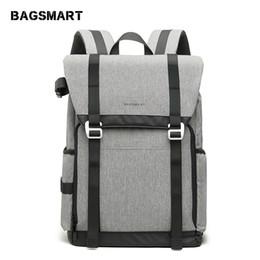 mochila BAGSMART Nueva DSLR Retro Camera Bag Gris Travel Camera Mochila Fotografía Bolsa con divisores personalizados acolchados desde fabricantes