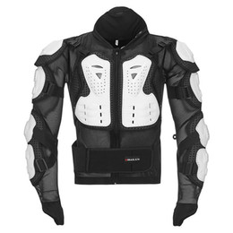 Motocicleta equitación trajes hombres online-Chaqueta de moto para hombre Ropa de armadura de cuerpo completo Traje de carreras de motocross Protección Moto Protectores de equitación Chaquetas S-4XL