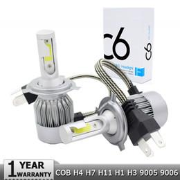 2019 bombillas led h9 H4 h7 bombilla de faro led LED 9003 HB2 H13 9008 9004 9007 H1 H3 H8 H9 H11 9005 HB3 9006 HB4 880 Faros delanteros H27 Luces de faros automáticos rebajas bombillas led h9