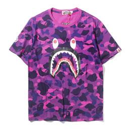 2019 camisetas de camuflaje hip hop Bape Designer T Shirt Bape Mens Designer T Camuflaje Impreso Hombres Mujeres Hip Hop Tee M-2XL camisetas de camuflaje hip hop baratos