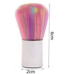 2019 remover poeira Rainbow Nail Art Ferramentas Escova de Poeira Poeira Limpo Manicure PedicureTool Prego poder remover Acessórios remover poeira barato