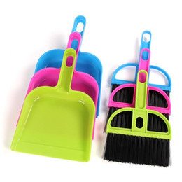 smallest desktop Promo Codes - Mini Colorful Desktop Cleaning Brush Computer And Keyboard Brush With Small Broom Dustpan Home Corner Cleaning Tools