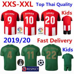 Camisetas de futbol de bilbao online-Camiseta Athletic de Bilbao Camiseta de fútbol 2019/20 WILLIAMS Inicio Camiseta de fútbol roja Camisetas de jugador de MUNIAIN Camiseta ADURIZ Kits de niños adultos Camiseta
