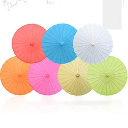 performance painting Coupons - Bride Wedding Parasol Child Handmade Painting Blank Paper Umbrella Stage Performance Prop Paper Umbrella Decoration Craft Umbrella BH1918 ZX