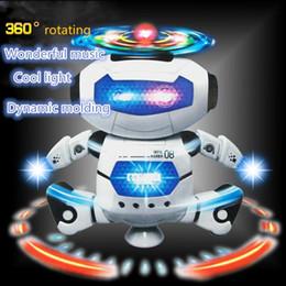 Lumières de danse tournantes en Ligne-Jouets électriques Danse Rotating Robot avec des lumières LED musique Explosion Intelligence Toy avec batterie Powered Direct Chine Wholesales
