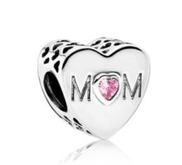 pandora encanta el dia de las madres Rebajas Hot Fit Pandora Charm Bracelet Best European Silver Charms Beads Madre S Day Mom Crystal Bead Diy Snake Chain para mujer Brazalete Collar