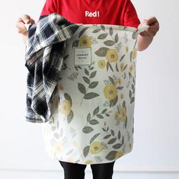 Druckspeicher-Körbe Wäschekorb Baumwolle und Leinen Faltender Kleidungsspeichereimer 3 Farben mischten Farbengroßverkauf Freies Verschiffen von Fabrikanten
