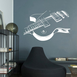 guitar decorations Coupons - Large Size Music Guitar Wall Sticker Music Room Bedroom Decoration Mural Art Decals Wallpapers For Kids Rooms Home Wall Decor