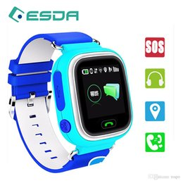 smart watch iphone wifi Promo Codes - Q90 Kids Bluetooth Smartwatch Smart Watch for Children Apple iPhone Android Smart Phone with GPS Tracker WiFi LBS Wearable Device PK Q50 Q60