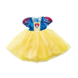 4575cf32fd00 Snow White princess dress summer Baby Girls Splicing Tulle Dance dresses  Kids party dress Children's Day Stage performance costume C5256
