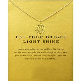 2019 dias mais leves New dogeared gargantilha colares com cartão de prata de ouro lua e sol colar de pingente para as mulheres da moda jóias