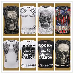 SWENEARO Hommes T-shirts Mode Animal Imprimé Phillip Plain Drôle Crâne T-shirt Hommes Été Casual Rue Hip-Hop Tee shirt Hommes Hauts 3XL ? partir de fabricateur