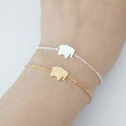 a6d853991440d8 Pulseras Mujer Moda 2018 Stainless Steel Silver Gold Ketting Origami  Elephant Bracelets For Women Bileklik Friendship Gift