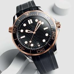 2019 проектирование водных часов Резиновый ремешок из розового золота из нержавеющей стали Мужские автоматические роскошные мужские часы Дизайнерские часы Professional Diver 300M Master НАТО Наручные часы