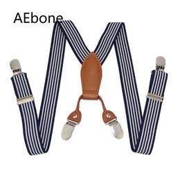 ragazzi a righe di bretelle Sconti Bretelle a bretelle per bambini AEbone 4 Bretelle a bretelle a clip in pelle blu scuro Bretelle a righe per bambini Bretelle Kinderen Sus21