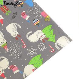 padrões de artesanato em tecido Desconto Booksew estilo de natal 100% tecido de algodão gato padrão de pano de quartos de gordura diy folha de cama de costura patchwork artesanato têxtil de casa