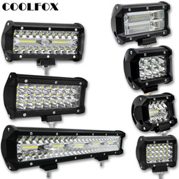 12 вольт светодиодные фонари Скидка 300 Вт 120 Вт 72 Вт 36 Вт 12 Вольт Werklamp рампа Lightbar LED пятно Offroad LED бар Свет работы Worklight фары дальнего света авто аксессуары