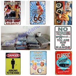 vintage oil signs Coupons - Vintage Metal Tin Signs For Wall Decor Route 66 Oil Iron Paintings Famous Attraction 20*30cm Metal Signs Tin Plate Pub Bar Garage Decoration