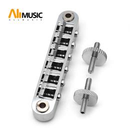 Регулируемый винтажный мост ABR-1 Jazz для электрогитары Chrome от Поставщики электрические железные детали