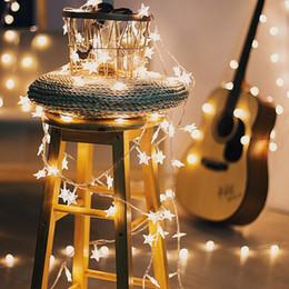 Decoração decoração de natal on-line-Ins LED Star Cordas Decorações Do Casamento Luz Romântica Propor Layout de Site Decoração de Festa de Aniversário de Natal Reutilizáveis Luzes Coloridas 5jzD1