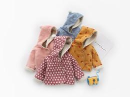 2019 giacche per bambini piccoli Kids Winter Jacket Neonato Cartoon Animal Print Cappotto di lana per bambini con cappuccio Cashmere Vestiti per bambini caldi Capispalla per bambine giacche per bambini piccoli economici