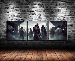 2019 assassini creed canvas Assassin's Creed Syndicate, 3P Canvas Pieces Home Decor HD Stampato Pittura di arte moderna su tela (senza cornice / con cornice) sconti assassini creed canvas