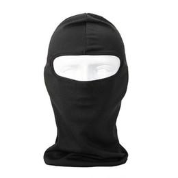 maschera di protezione solare per il viso Sconti HobbyLane Uherebuy Motociclismo Sport Lycra Passamontagna Maschera intera per protezione solare UV (Nero)