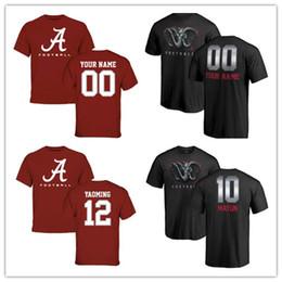 camisas feitas sob encomenda livres Desconto 2019 NEW Alabama Personalizado Crimson Tide Manga Curta Camiseta Qualquer nome qualquer número verão Em Torno Do Pescoço T-Shirt frete grátis