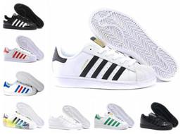 Argentina 2019 envío Superstar blanco negro rosa Superstars Oro azul 80 orgullo zapatillas Super Star Mujer Hombre Deporte Zapatos ocasionales del tamaño 36-45 Suministro
