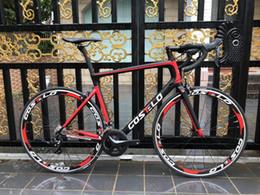 Rodas completas on-line-Os mais recentes Costelo Speedmachine bicicleta bicicleta de estrada de carbono completa bicicleta rodas 40mm 3500 grupo guiador tronco bici bicicleta barata