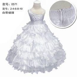 df7ee7715fb weiße kleider preiswerter preis Rabatt Freies Verschiffen knöchellangen  Kinder kleiden billigen Preis reine weiße Blumenmädchenkleider für
