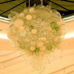 Люстра потолочная люстра потолочная онлайн-Новый конструктор выдувное стекло Bubble Люстра сшитое Murano боросиликатного стекла Современные хрустальные потолочные светильники для дома