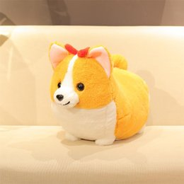 Canada 38/45 / 60cm mignon gros Shiba Inu chien en peluche peluche doux Kawaii Corgi Chai chien Cartoon oreiller beau cadeau pour enfants bébé enfants Offre