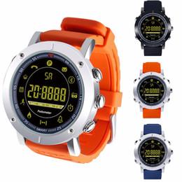 Sms relógio de pulso on-line-2018 EX19 relógio inteligente 5ATM natação à prova d 'água Chamada SMS Alerta Pedômetro cronômetro rastreador de fitness Smartwatch Relógio de Pulso para IOS Android iphone