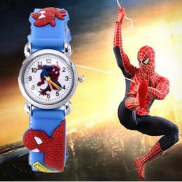 2019 Venta Caliente Spiderman Relojes Niños Reloj de Dibujos Animados Niños Cool 3D Correa de Goma Reloj de Cuarzo Reloj Horas de Regalo Relojes Relogio desde fabricantes
