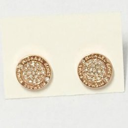 M. orecchini online-nuovissimo Studded MK letter orecchini a bottone serie m orecchini a forma di diamante tondi in lega di alta lucido