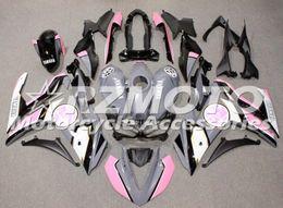 kit de carenagem rosa yamaha Desconto Vendas quentes Novo Kit de Carenagem da Motocicleta ABS para YAMAHA R3 R25 2014 2015 2016 2017 2018 2019 Carroçaria conjunto Personalizado Rosa cinza