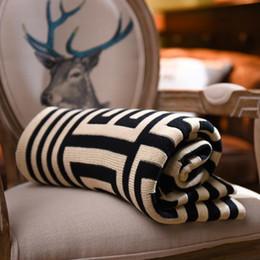 cobertor decke Rabatt Marke Decke werfen - 1PC 100% Baumwolle gestrickte Decke Erwachsenen Frühling / Herbst Sofa Cobertor 130 * 160cm auf Bett Sofa