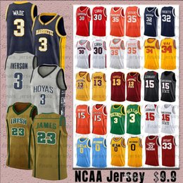 james harden jersey Rebajas James 23 LeBron NCCA Dwyane 3 Wade Jersey Kawhi Leonard Hombres James Kobe Iverson Durant 13 Harden Stephen College Camisetas de baloncesto