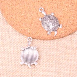 47 unids encantos tortuga tortuga mar antiguo de plata plateado colgantes joyería apta para hacer hallazgos accesorios 34 * 28 mm desde fabricantes