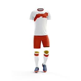 Canada Personnalisé Maillots De Football Ensemble Uniformes Vêtements De Football Kit Pas Cher Respirant Short Shirt Uniformes Survêtement maillot cheap cheap soccer jerseys shirt short Offre