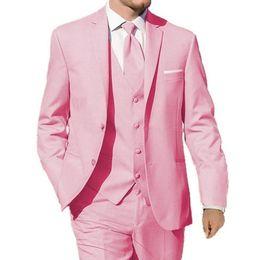 6704fbd4b954f 2019 costume rose pour homme Vente chaude Rose Hommes Costumes Coquille  Revers Mens Costumes De Mariage