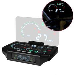 Bluetooth coche hud online-Bluetooth Car HUD Head Up Display Car TPMS HUD Sensor de Monitoreo de Presión de Neumáticos Color Proyección Sobrecarga Alarma Diagnóstico
