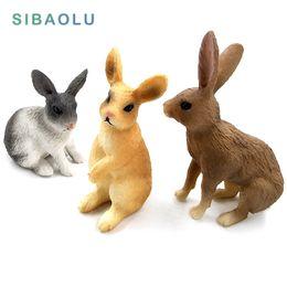 Simulazione mini Coniglio modello animale figura lepre figurine decorazioni per la casa in miniatura fata decorazione del giardino accessori moderna statua da